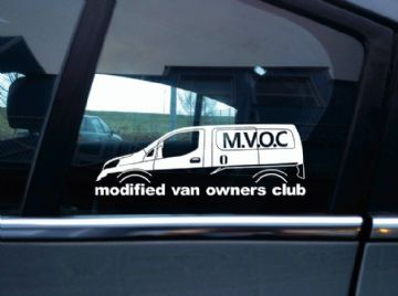 MVOC modified van owners club sticker - for Nissan NV200 van